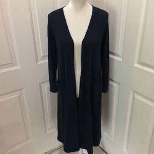 LuLaRoe Sweaters - LulaRoe | Solid Navy Blue Sarah Cardigan XS